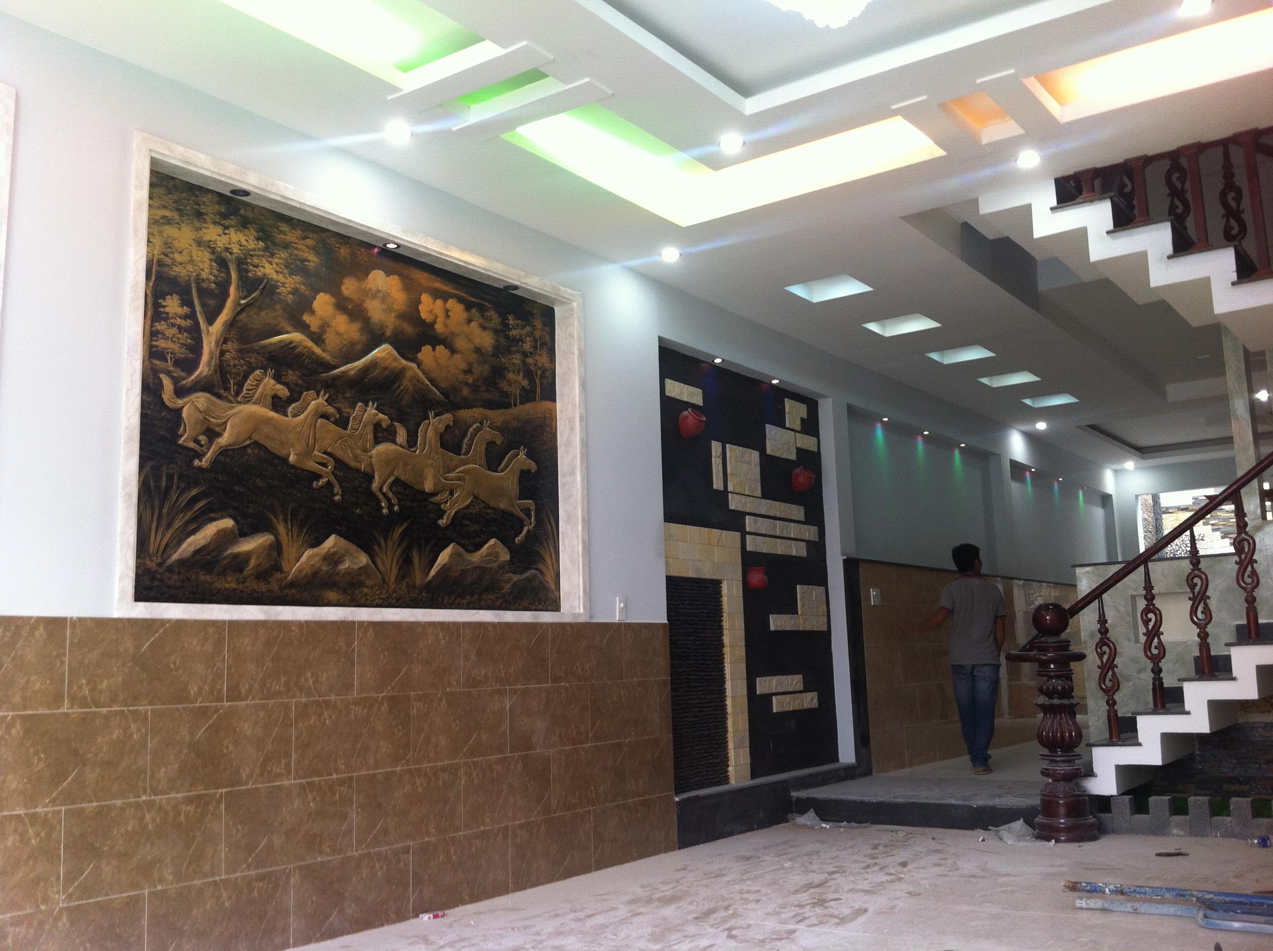 trang trí nhà nằm ngay trung tâm hành chính dĩ an