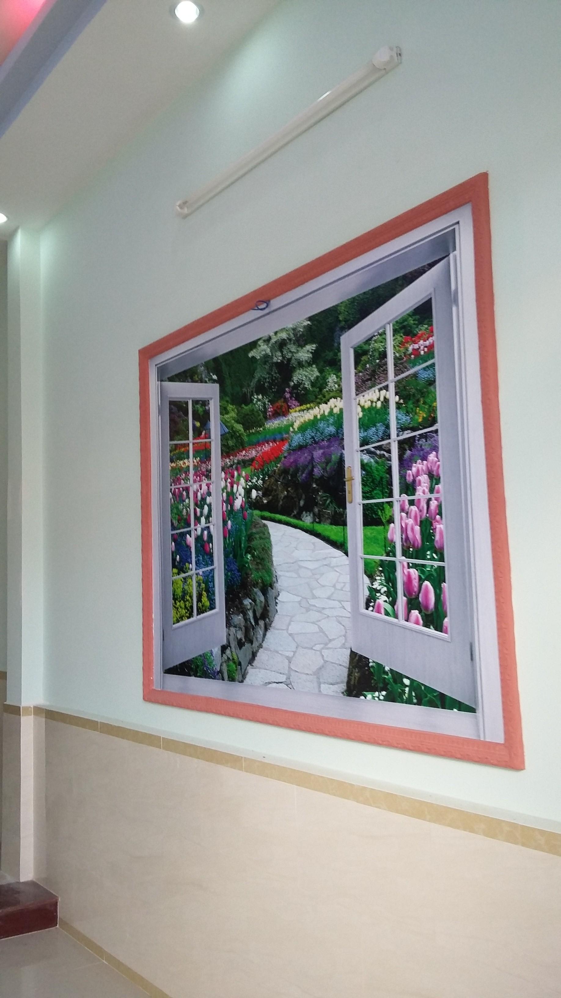 trang trí nhà gấp 1 lầu, 1 trệt vị trí đẹp ở dĩ an