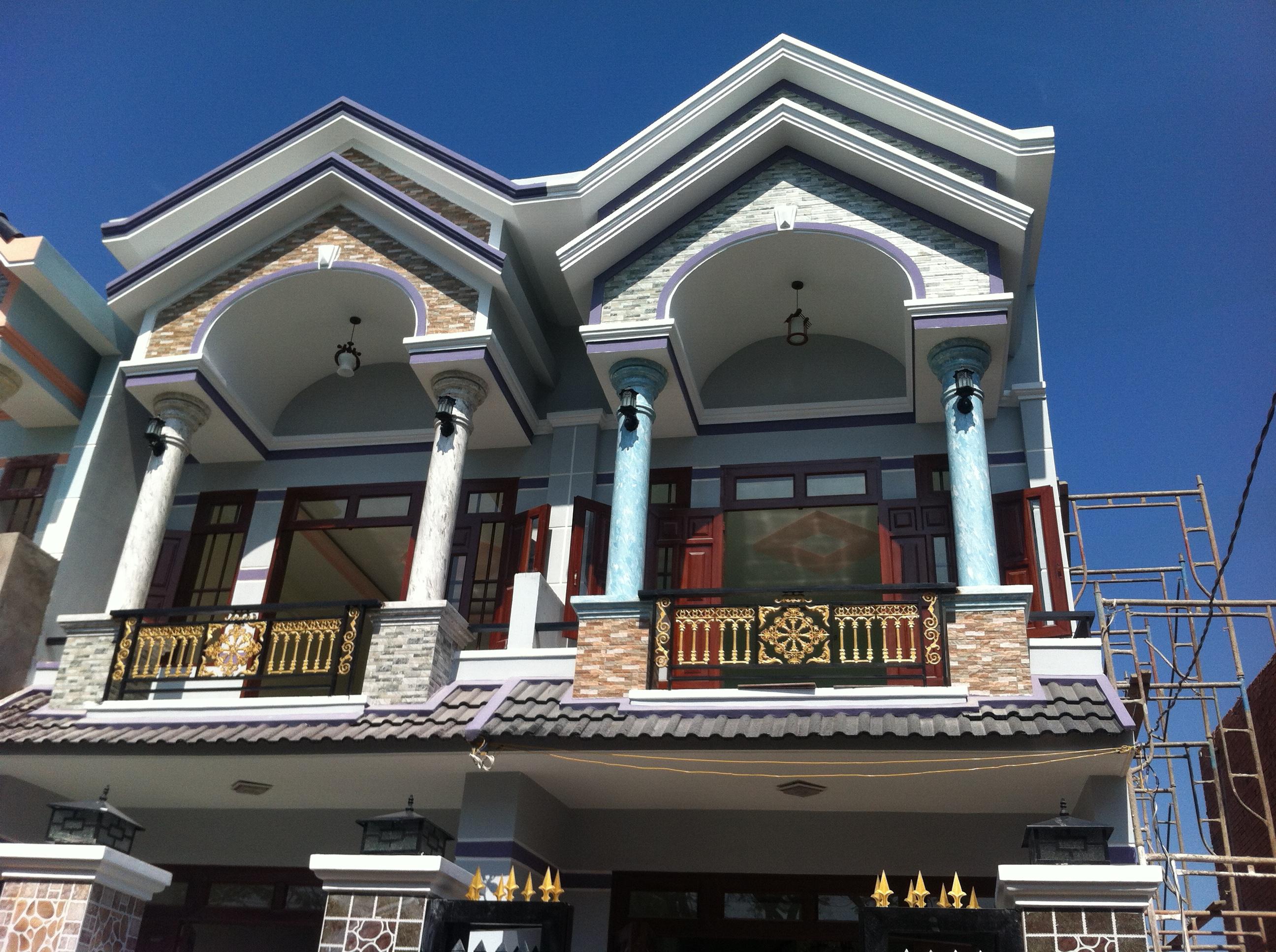 Phía trước Mẫu nhà phố đẹp nhất ở dĩ an bình dương đang bán