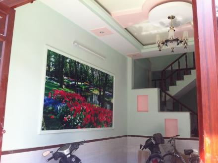 trang trí tường bên trong mẫu nhà đẹp giá rẻ tại bình dương