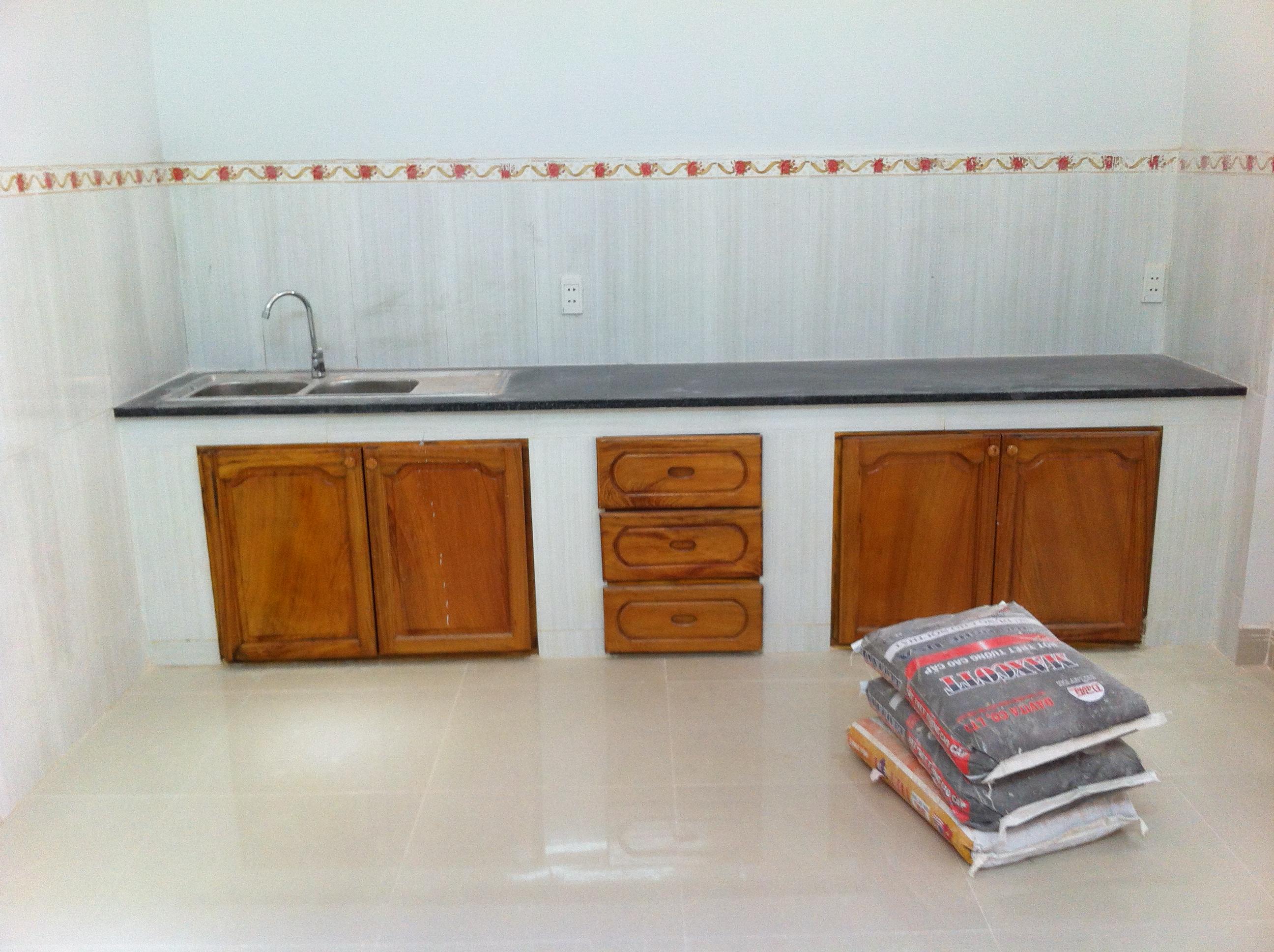 bếp nấu nhà mới nhất mặt tiền buôn bán ở dĩ an