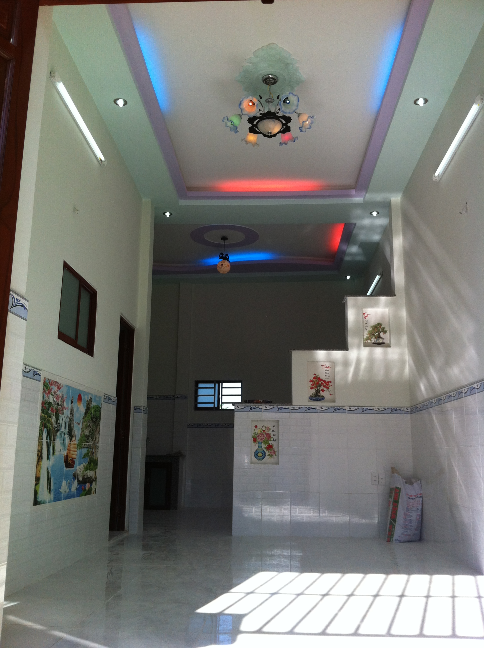 Phòng khách nhà cấp 4 mẫu nhà đẹp ở dĩ an