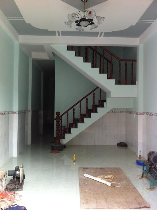 không gian phòng khách nhà 1 lầu 1 trệt mẫu nhà mới giá 850 triệu ở dĩ an