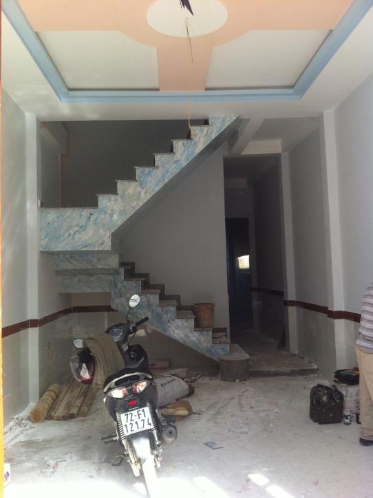 không gian bên trong nhà phố dĩ an với tổng diện tích xây dựng lên đến 140m2