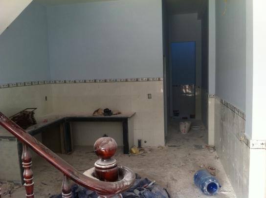 bếp nấu nhà mới dĩ an với dt 4 x 18,5=74m2