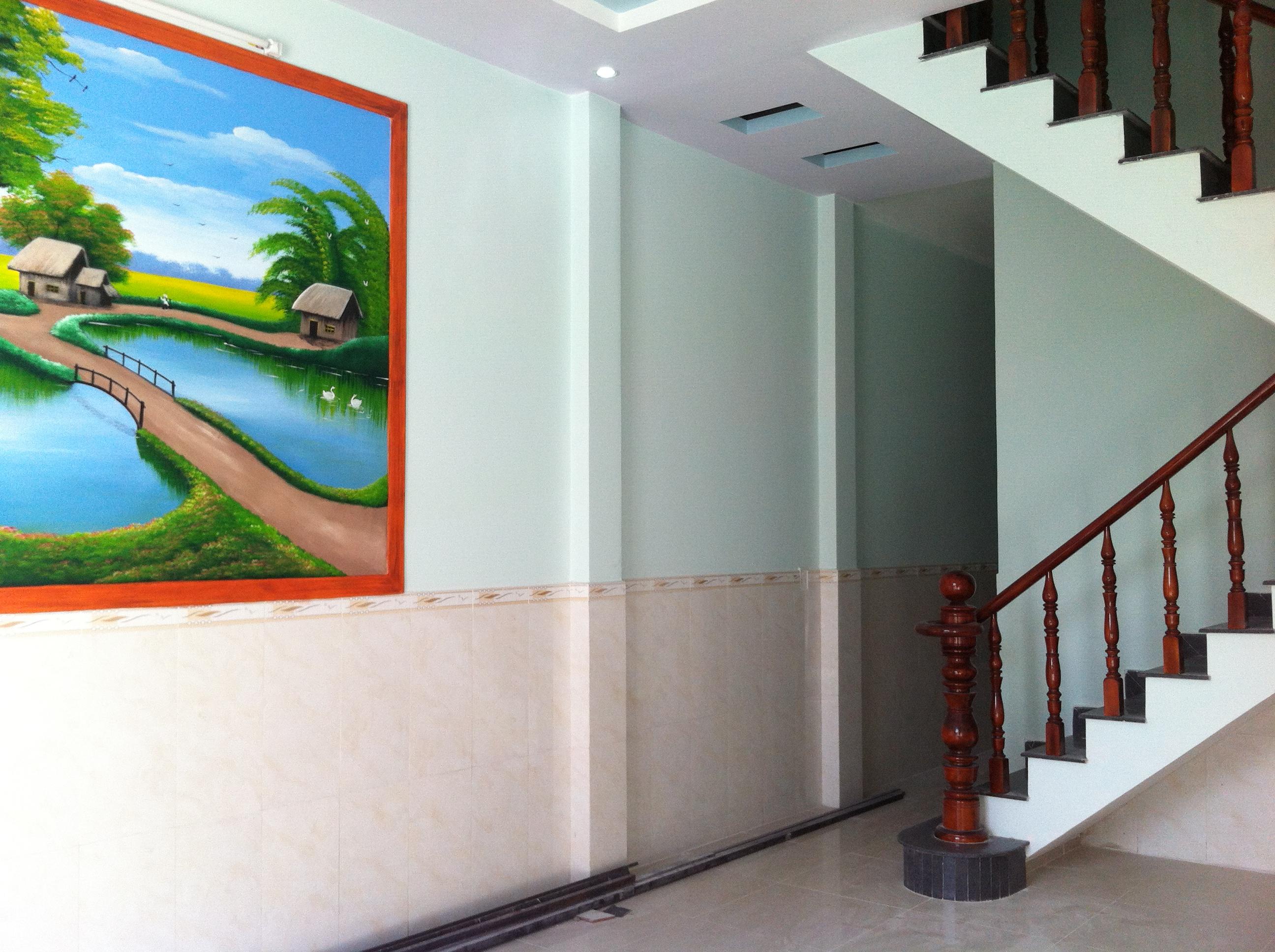 tường nhà mặt tiền buôn bán ở dĩ an có dt 104m2