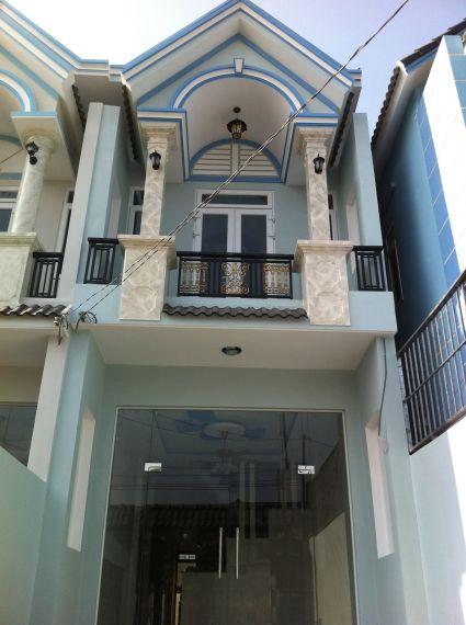 phía trước căn nhà mới ngay khu dân cư hành chính dĩ an
