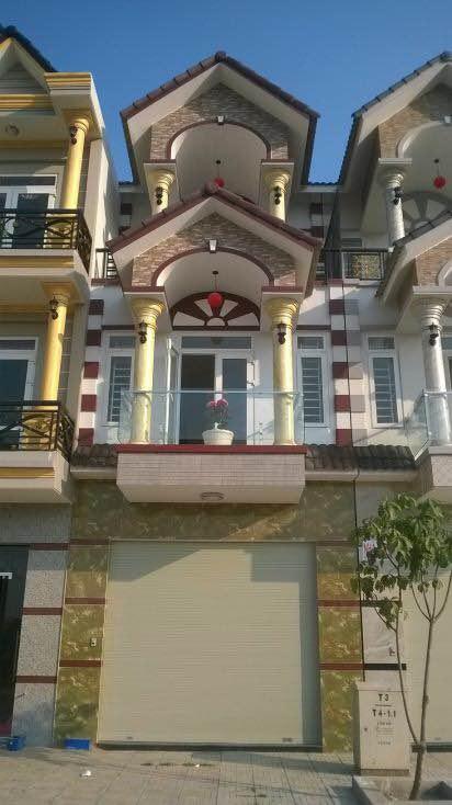 mặt tiền biệt thự 2 tầng