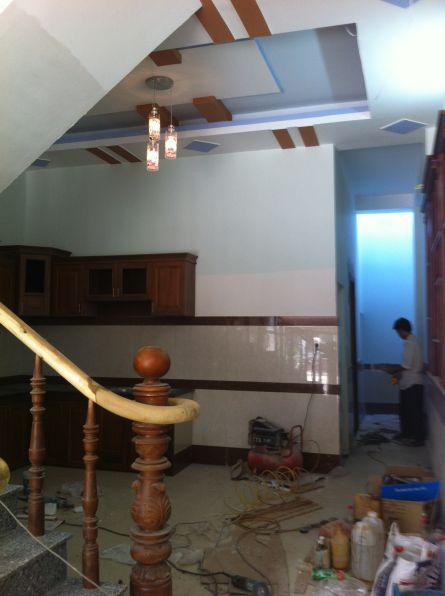 Không gian sau bếp.