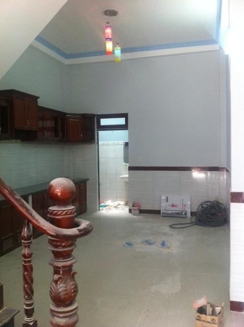 Không gian sau bếp nấu.