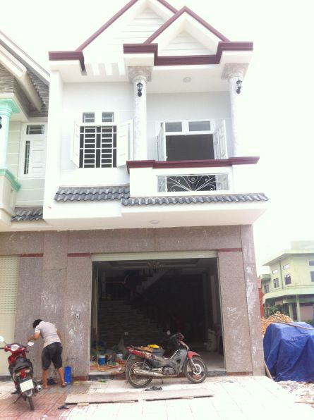 Căn nhà xây gần hoàn thiện.