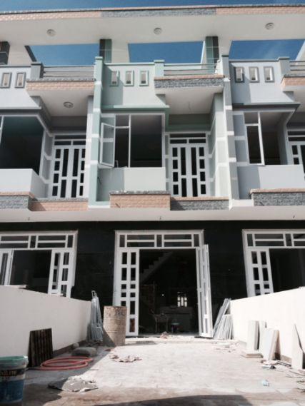 Căn nhà phố đang được xây dựng.