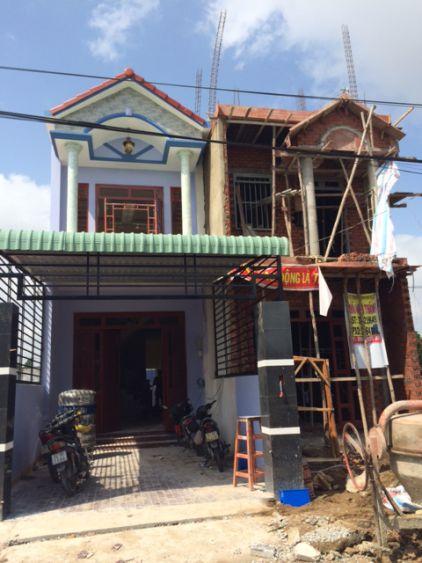 Căn nhà mới xây dựng gần hoàn thiện.