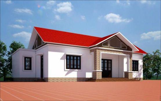 Mẫu nhà mái thái ở nông thông kiểu dáng mới nhất trong năm-->Thiết kế 5