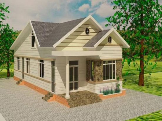 Mẫu nhà mái thái ở nông thông kiểu dáng mới nhất trong năm-->Thiết kế 8
