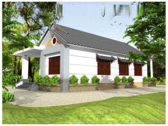 Mẫu nhà mái thái ở nông thông kiểu dáng mới nhất trong năm-->Thiết kế 9