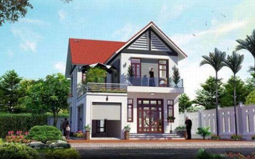 mẫu nhà mái thái 2 tầng đẹp nhất hiện nay--thiết kế 7