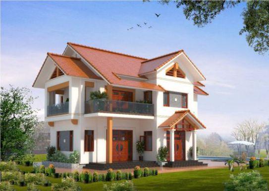 mẫu nhà mái thái 2 tầng đẹp nhất hiện nay--thiết kế 1