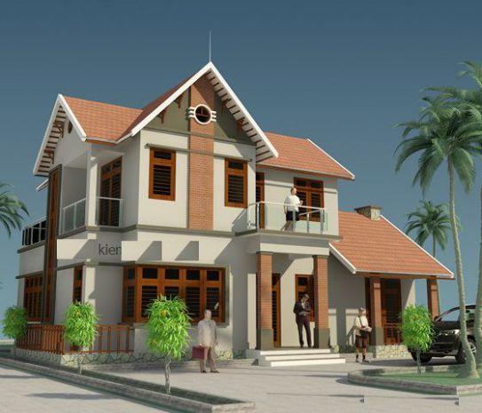 mẫu nhà mái thái 2 tầng đẹp nhất hiện nay--thiết kế 2