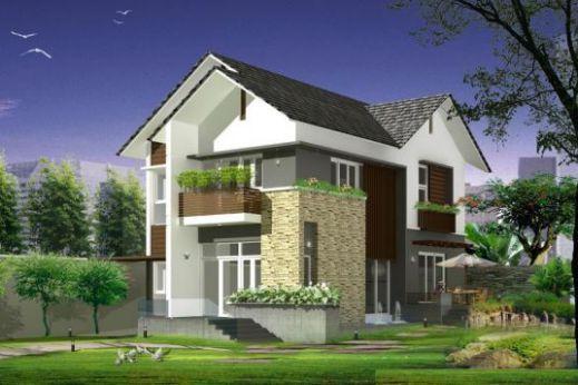 mẫu nhà mái thái 2 tầng đẹp nhất hiện nay--thiết kế 3