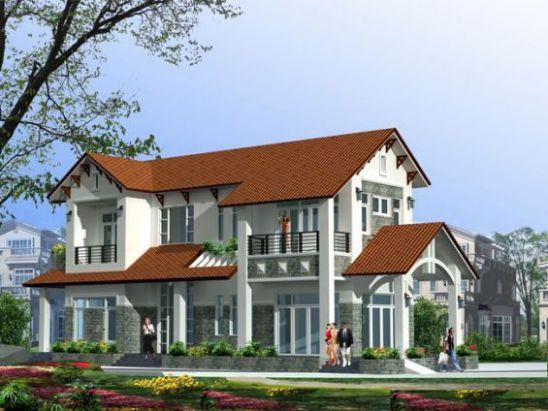 mẫu nhà mái thái 2 tầng đẹp nhất hiện nay--thiết kế 5