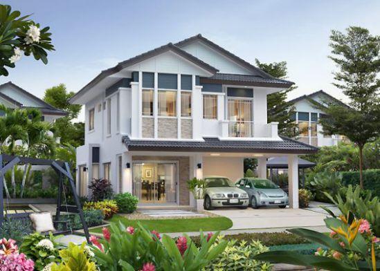 mẫu nhà mái thái 2 tầng đẹp nhất hiện nay--thiết kế 6