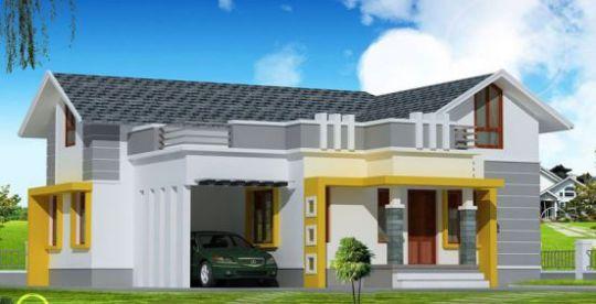 thiết kế mẫu nhà cấp 4 hình chữ l -m2