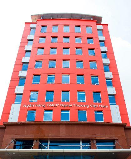 Ngân hàng vietcombank ở Dĩ An - Chi nhánh Sóng Thần.