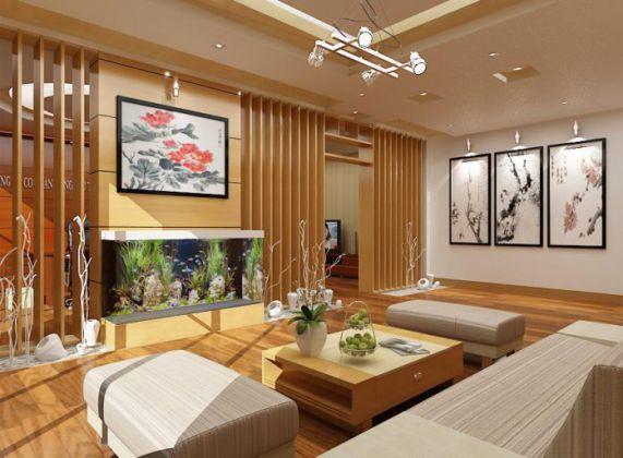 Mẫu phòng khách nhà ống đẹp mang phong cách hiện đại.