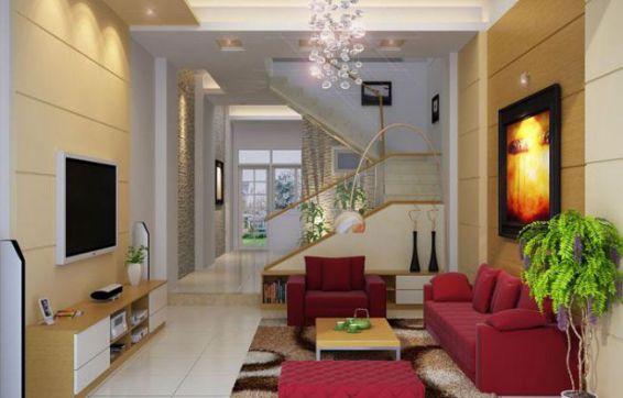 Mẫu phòng khách nhà ống đẹp, không gian rộng rãi, thoáng mát.