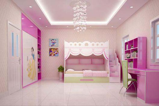 Mẫu phòng ngủ đẹp cho bé gái nhất hiện nay.