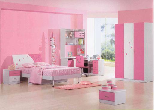 Mẫu phòng ngủ đẹp cho bé gái không gian rộng rãi, thoáng mát.