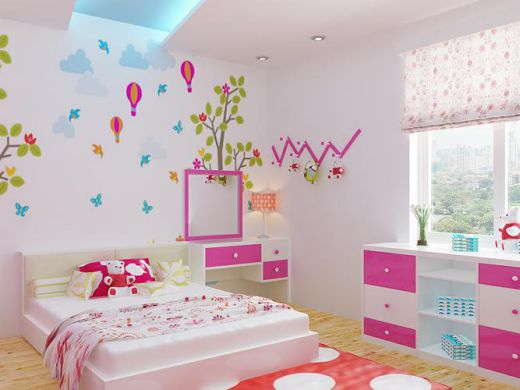 Mẫu phòng ngủ đẹp cho bé gái cách bài trí hợp phong thủy