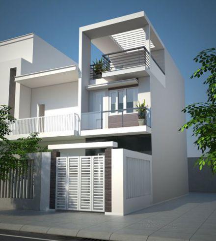 Mẫu nhà phố 1 trệt 1 lửng 1 lầu rất đơn giản, không quá cầu kỳ.