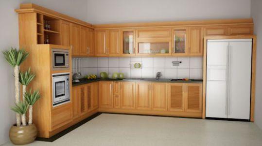 Mẫu tủ bếp chữ l đẹp kiểu dáng hiện đại-->Thiết kế 5