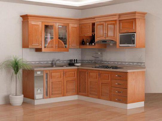 Mẫu tủ bếp chữ l đẹp kiểu dáng hiện đại-->Thiết kế 4