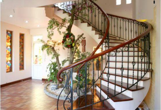 Mẫu cầu thang xoắn với thiết kế hiện đại.