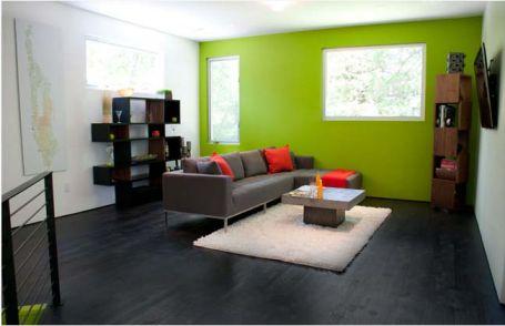Bố trí rất ích đồ vật nhưng vẫn tạo được độ trong xanh cho căn phòng.