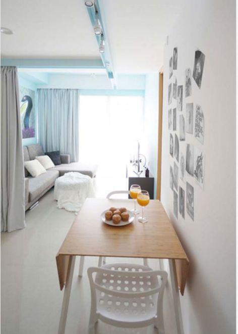 Thiết kế không gian nhỏ gọn bằng rèm vãi-->Phối cảnh 4