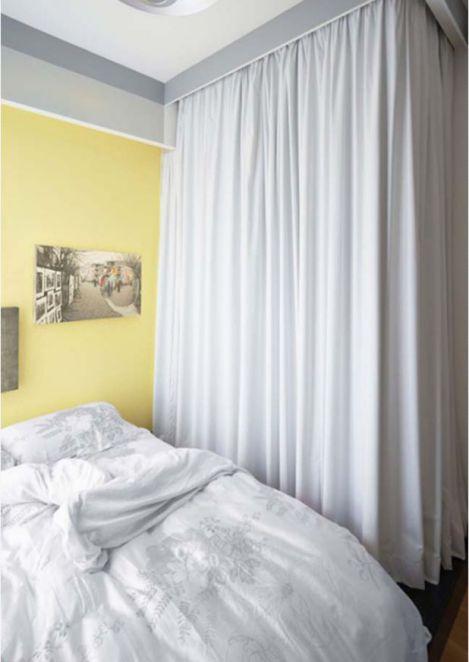 Thiết kế không gian nhỏ gọn bằng rèm vãi-->Phối cảnh 6