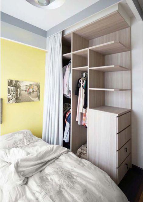 Thiết kế không gian nhỏ gọn bằng rèm vãi-->Phối cảnh 8