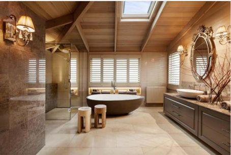 Bồn tắm nằm thiết kế kiểu dáng hiện đại.