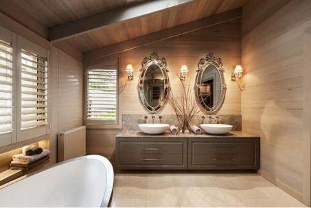 Phòng tắm sử dụng nội thất cao cấp.