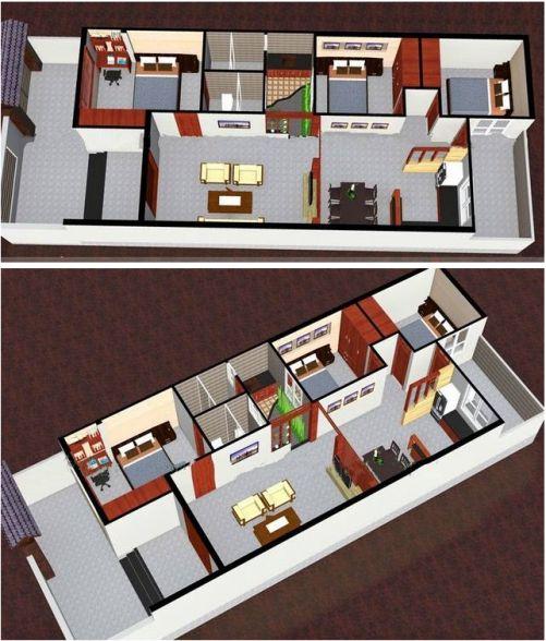 Phối cảnh 3D cho mặt bằng nội thất.