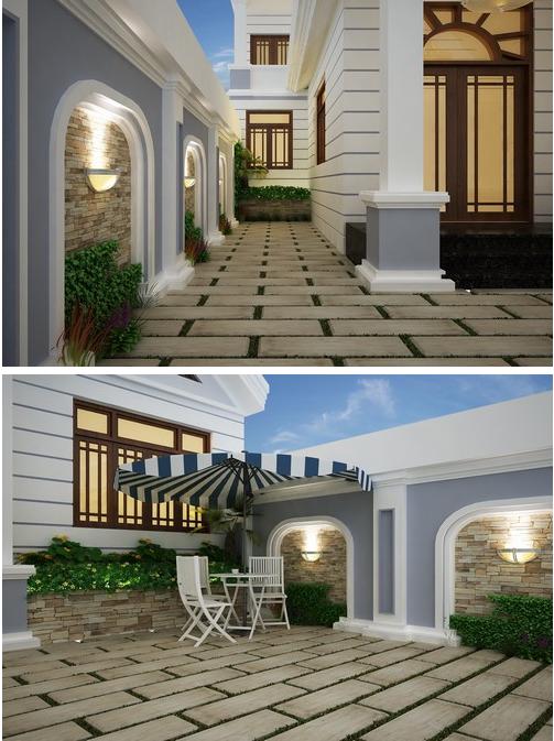 Thiết kế ngoại thất khoảng sân vườn