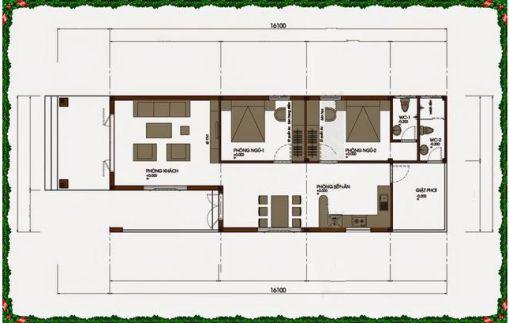 Mặt bằng sơ bộ về cách trang trí bên trong nhà.