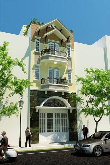 Mẫu nhà phố giả biệt thự phong cách hiện đại->hình 4
