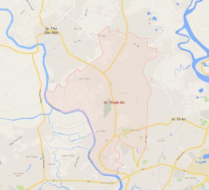 Bản đồ trực tuyến Thuận An Bình Dương mới nhất