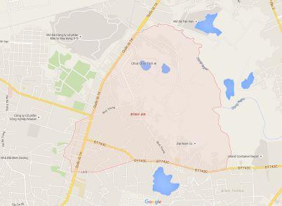 Bản đồ online Bình An Huyện Dĩ An