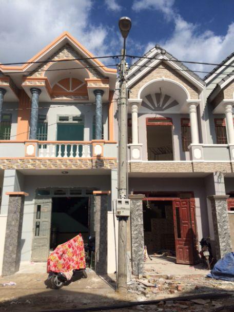 Căn nhà đang trong quá trình xây dựng.